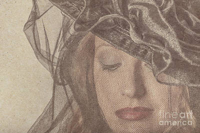 Gorgeous Woman Wearing Make-up Under A Veil Print by Jorgo Photography - Wall Art Gallery