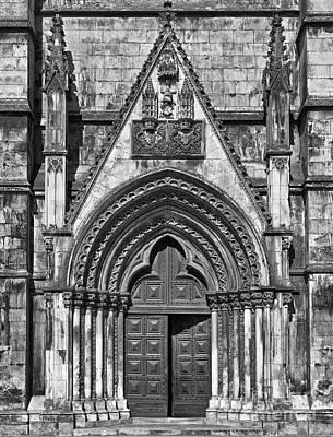 Christian Photograph - Gothic Portal Church by Jose Elias - Sofia Pereira