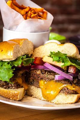 Gourmet Pub Hamburger Original by Teri Virbickis