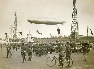 Lighter Photograph - Graf Zeppelin Polar Flight Chart by Us Coast Guard
