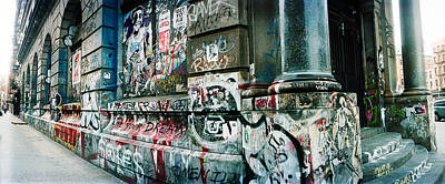 Graffiti Covered Germania Bank Building Print by Panoramic Images