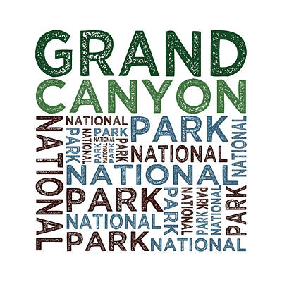 Grand Canyon Digital Art - Grand Canyon National Park by Flo Karp