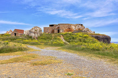 Grandes Rocques Fort - Guernsey Print by Joana Kruse