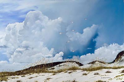 Sand Dunes Painting - Grayton Beach by Rick McKinney
