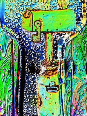 Bubbles Mixed Media - Green Mailbox by Sun Browser