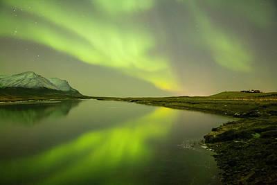 Green Reflection Print by Thorir Bjorgvinsson