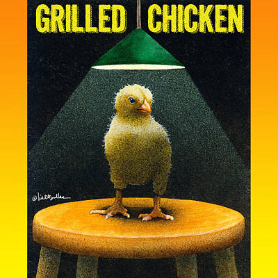 Grill Painting - Grilled Chicken... by Will Bullas