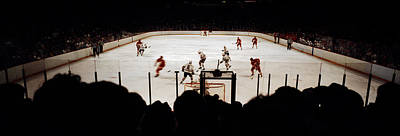 Group Of People Playing Ice Hockey Print by Panoramic Images
