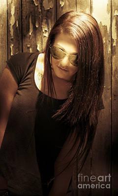 Grunge Woman Print by Jorgo Photography - Wall Art Gallery