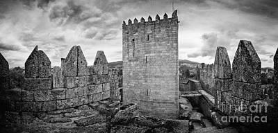 Tower Photograph - Guimaraes Medieval Castle Keep by Jose Elias - Sofia Pereira