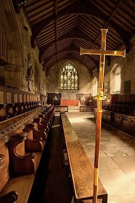 Guisborough, England  Interior Of Chapel Print by John Short