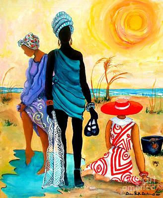 Lowcountry Painting - Gullah-creole Trio  by Diane Britton Dunham