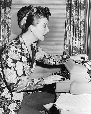Typewriter Photograph - Gypsy Rose Lee by Fred Palumbo