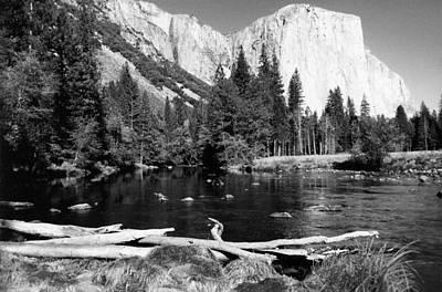 Autumn Scene Photograph - Half Dome In Yosemite In October by Barbara Snyder