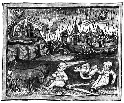 Halleys Comet, 1456 Print by Science Source