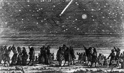 Halleys Comet, 1682 Print by Science Source