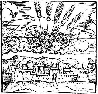 Halleys Comet, Leo Constellation, 1531 Print by Science Source