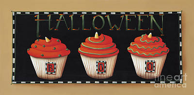 Candy Painting - Halloween Cupcakes by Catherine Holman