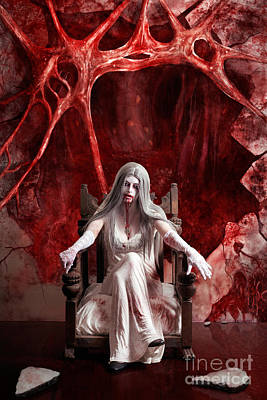 Monster Photograph - Halloween Fine Art Portrait. Young Vampire Woman  by Jorgo Photography - Wall Art Gallery