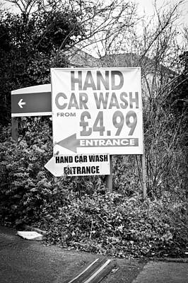 Advertise Photograph - Hand Car Wash by Tom Gowanlock