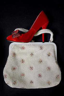 Beads Photograph - Handbag With Stiletto by Joana Kruse