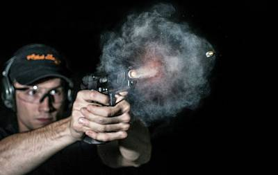 High Speed Photograph - Handgun Shot by Herra Kuulapaa � Precires
