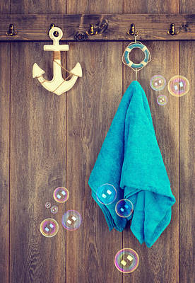 Hanging Towel Print by Amanda Elwell