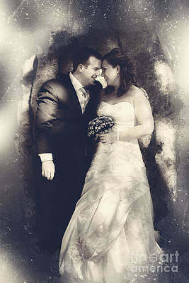 Happy Bride And Groom In A Wedding Romance Print by Jorgo Photography - Wall Art Gallery