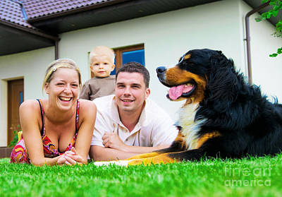 Women Photograph - Happy Family And House by Michal Bednarek