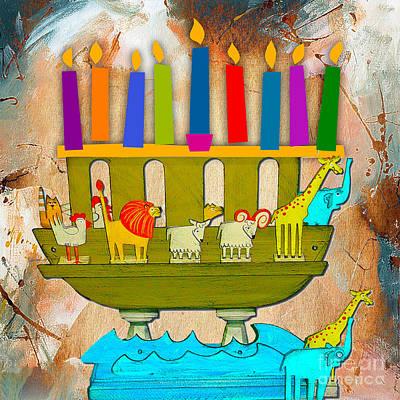 Hanukkah Mixed Media - Happy Hanukkah by Marvin Blaine