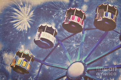 Fireworks Mixed Media - Happy New Year by Angela Doelling AD DESIGN Photo and PhotoArt
