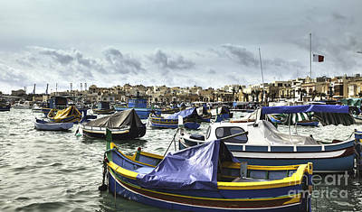 Marsaxlokk Photograph - Harbour Of Marsaxlokk In Malta by Frank Bach