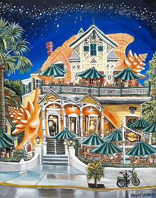 Hangouts Painting - Hard Rock Conch Cafe by Abigail White