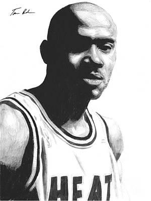 Miami Heat Drawing - Hardaway by Tamir Barkan