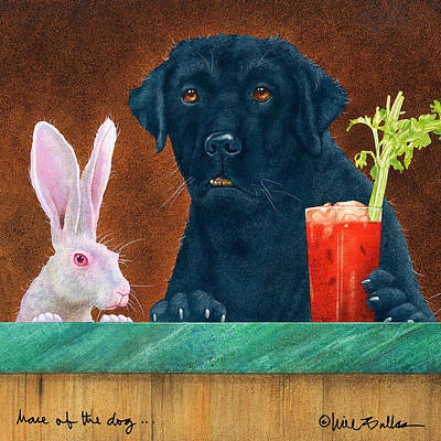 Bloody Mary Painting - Hare Of The Dog... by Will Bullas