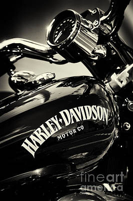 Gas Photograph - Harley D Sepia by Tim Gainey