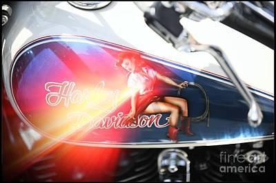 2 Harley Davidson Pin Up Original by Stefano Senise