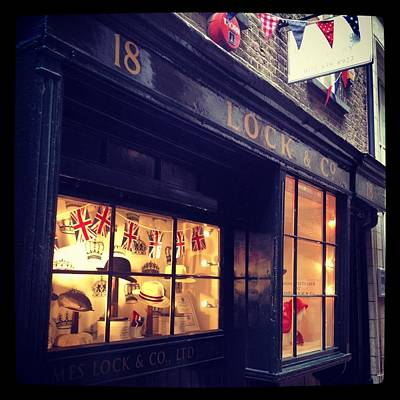 Bunting Digital Art - Hat Shop Jubilee Style by Maeve O Connell