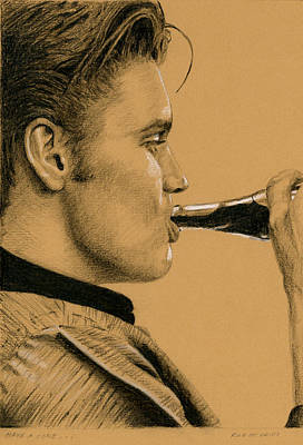 Singer Drawing - Have A Coke... by Rob De Vries