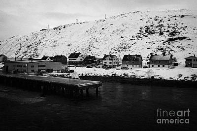 Havoysund Hurtigruten Pier Finnmark Norway Europe Print by Joe Fox