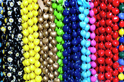 Repetition Photograph - Hawaiian Lei Or Necklaces Display by Daisy Gilardini