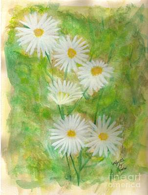 Daisies Painting - He Loves Me...he Loves Me Not...he Loves Me by Myrtle Joy