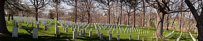Grave Photograph - Headstones In A Cemetery, Arlington by Panoramic Images