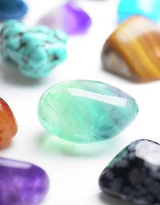Semi-precious Photograph - Healing Gemstones by Cordelia Molloy