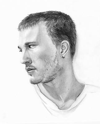 Heath Ledger Drawing - Heath Ledger by Elisa Matarrese