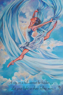 Woman Painting - Heavenly Dance by Tamer and Cindy Elsharouni