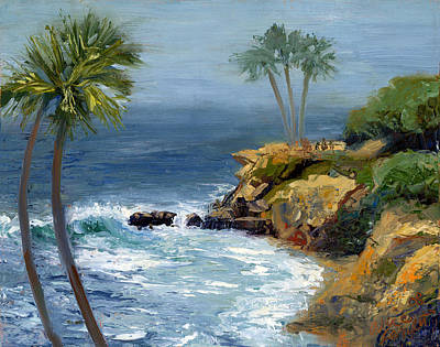 Riviera Painting - Heisler Park by Alice Leggett