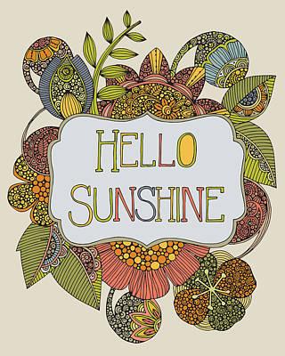 Hello Sunshine Print by Valentina