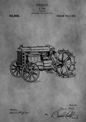 Henry Ford Tractor Patent Print by Dan Sproul