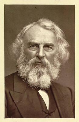 Longfellow Photograph - Henry Wadsworth Longfellow by British Library